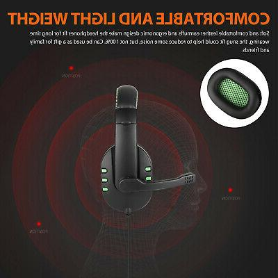 Stereo Over-ear Headphone Mic For Switch/Xbox