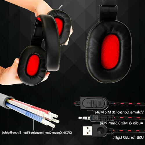 Gaming 3.5mm LED Headphones For PC ONE/iPad