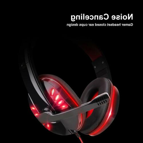 Gaming Headset LED Headphones For PC ONE/iPad