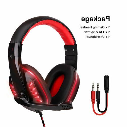 Gaming 3.5mm Mic LED Headphones For ONE/iPad