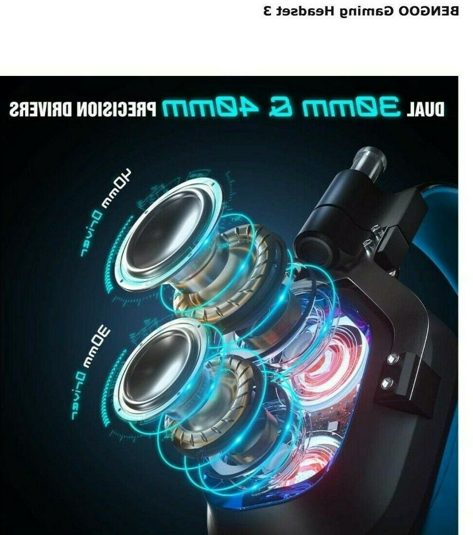 BENGOO Gaming Headset for PS4, Xbox One
