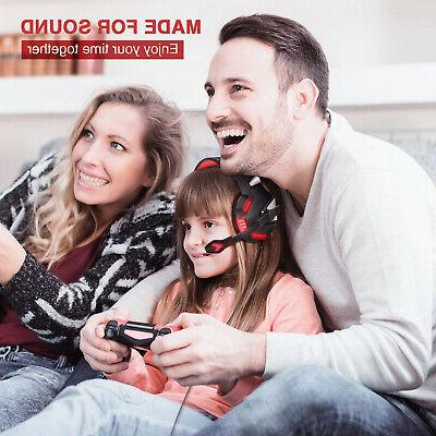Gaming PS4 Xbox Micolindun Ear Gaming Headphones Mic