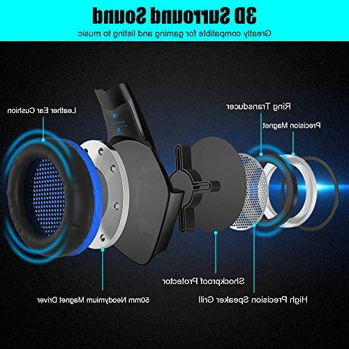 BENGOO Gaming and Mouse, for One, PC, Noise Cancelling Ear Adjustable, 6 Ergonomic