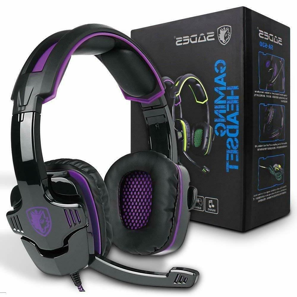 gaming headset pc accessories headphones wired noise