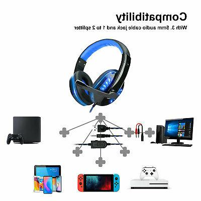 3.5mm LED Headphones Surround For PS4 ONE iPad