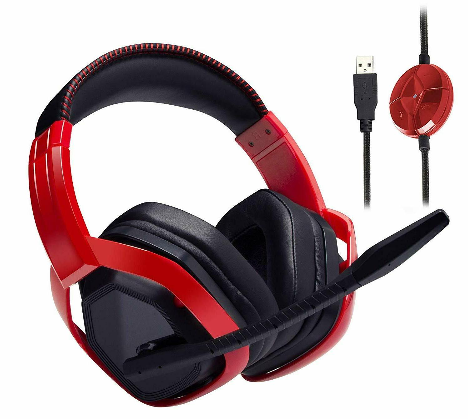 Gaming With Microphone For PC Black Red Desktop Accessories