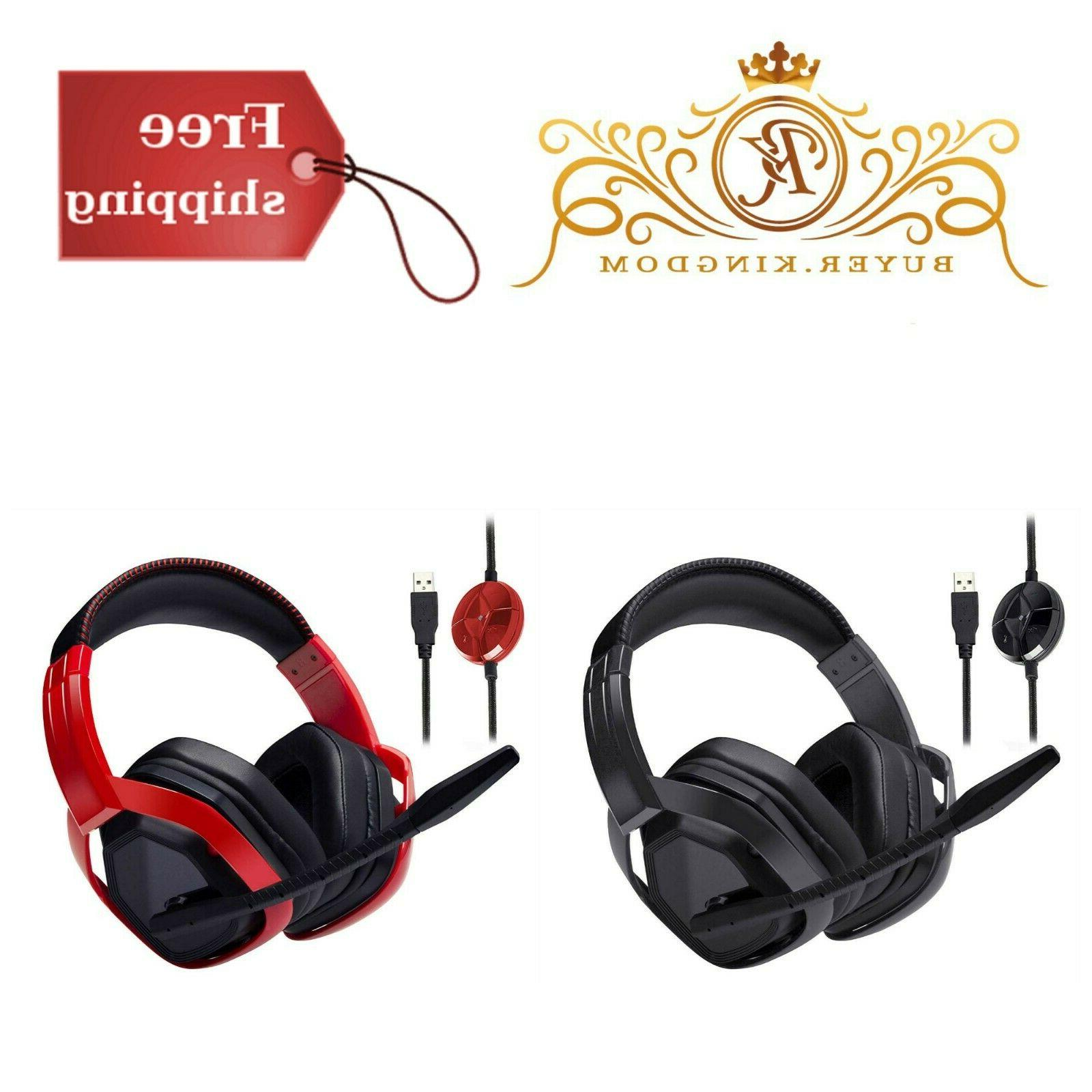 gaming headset with microphone for pc usb