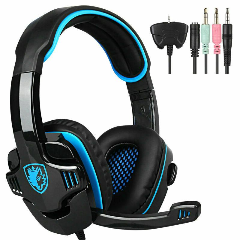 Sades sa-901 Stereo 7.1 Surround Headsets headphones Headban
