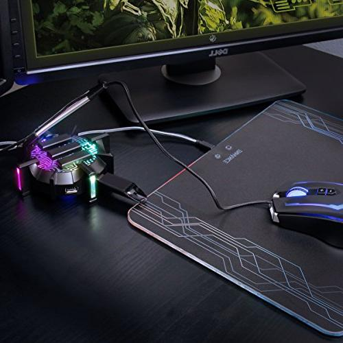 ENHANCE Port with 7 LED Cable Improved Accuracy & Design for Competitive Esports Games Gaming Gear