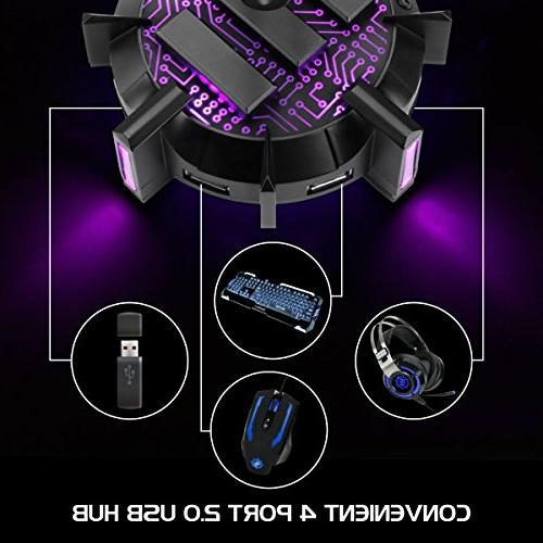 ENHANCE Bungee Port 7 LED Cable Improved & Weighted Design for Competitive Esports Games - Essential Gear