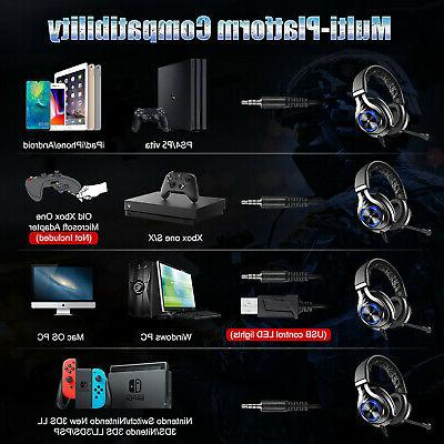 Gaming Headsets Mic Stereo For Xbox One Nintendo