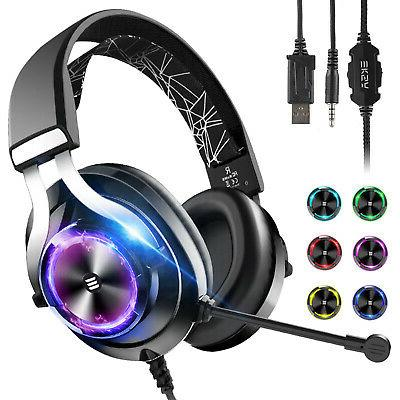 gaming over ear headphones headsets mic stereo
