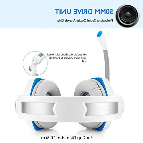 Gaming Headset Xbox Beexcellent Stereo Over Ear Gaming Noise Wired Headset Control/LED Light 4/Laptop/Mac/Computer