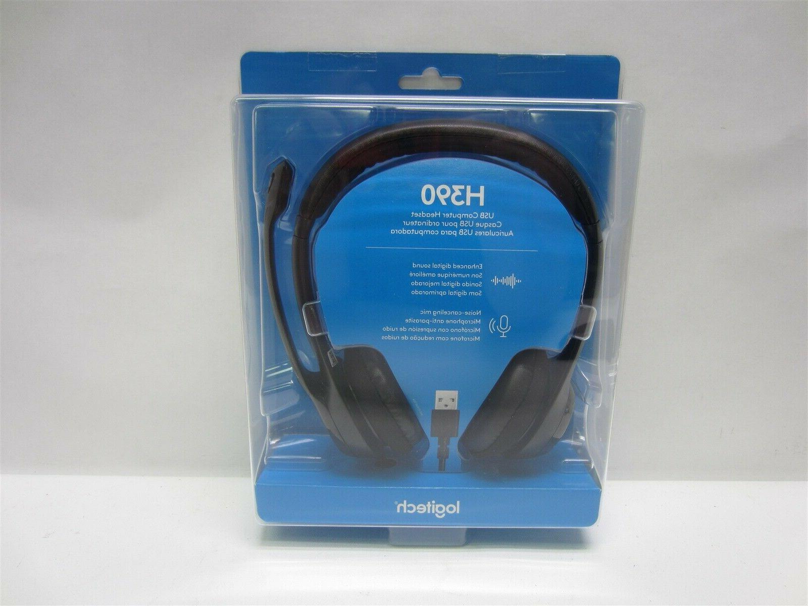 Computer Headset with Noise-Canceling Microphone