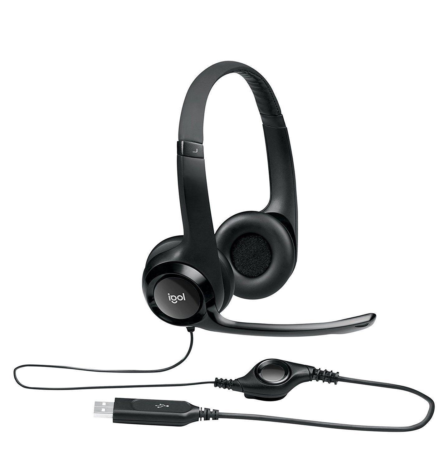 h390 comfort usb wired pc headset internet