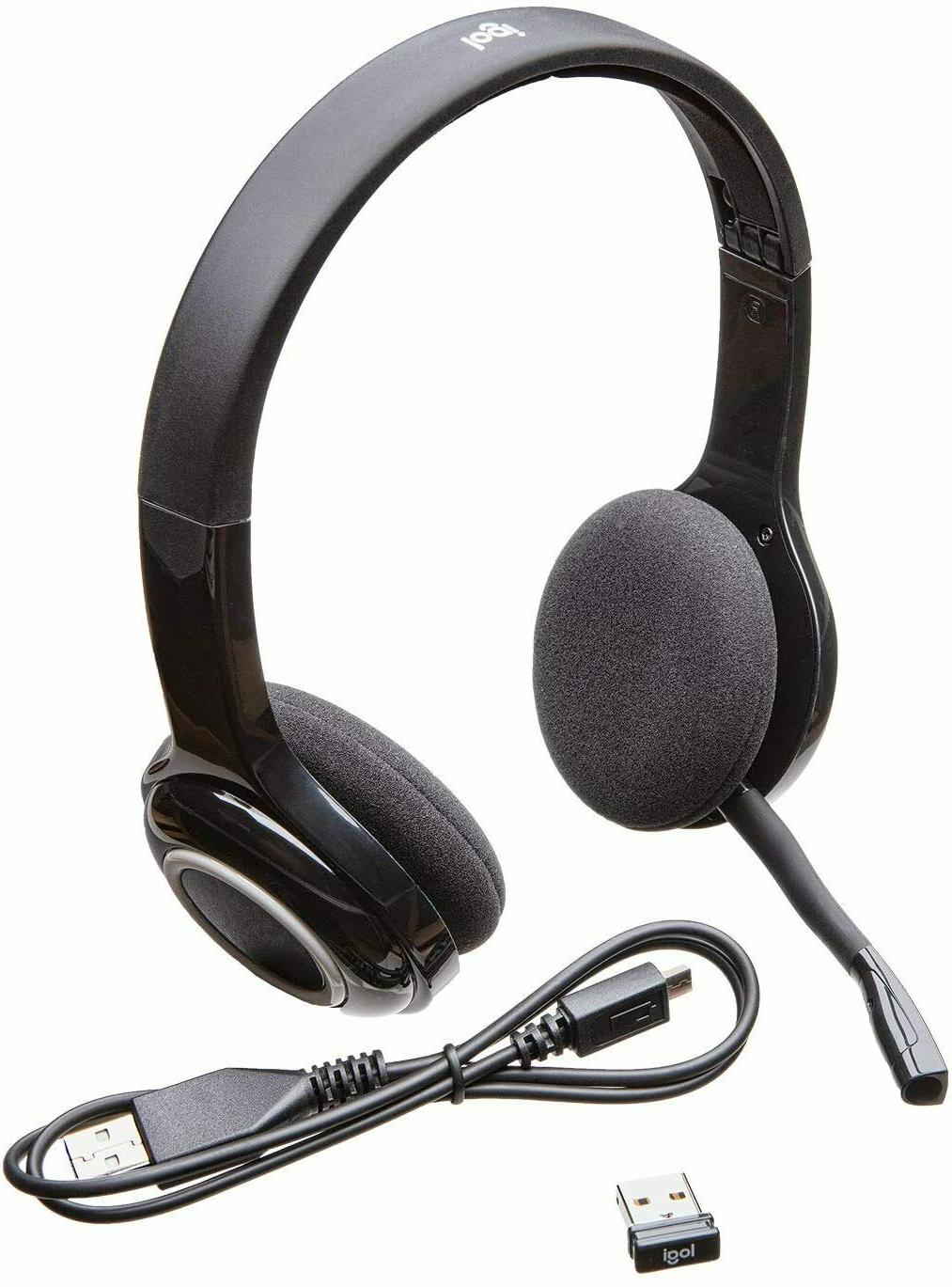 Logitech H600 Wireless Noise Mic, Controls, BRAND