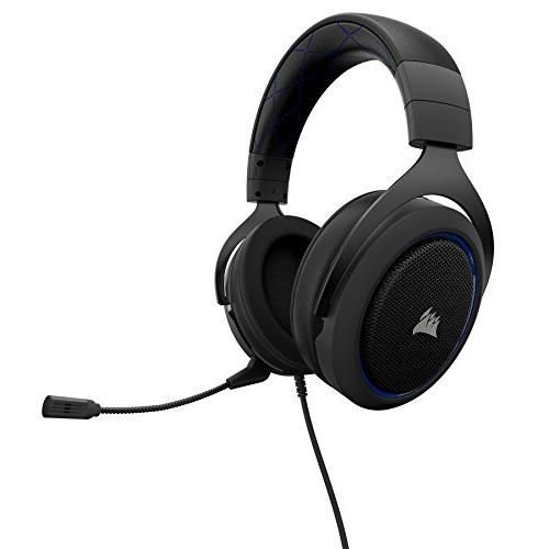 CORSAIR HS50 - Stereo Gaming Headset - Discord Certified Designed to 4 - Blue