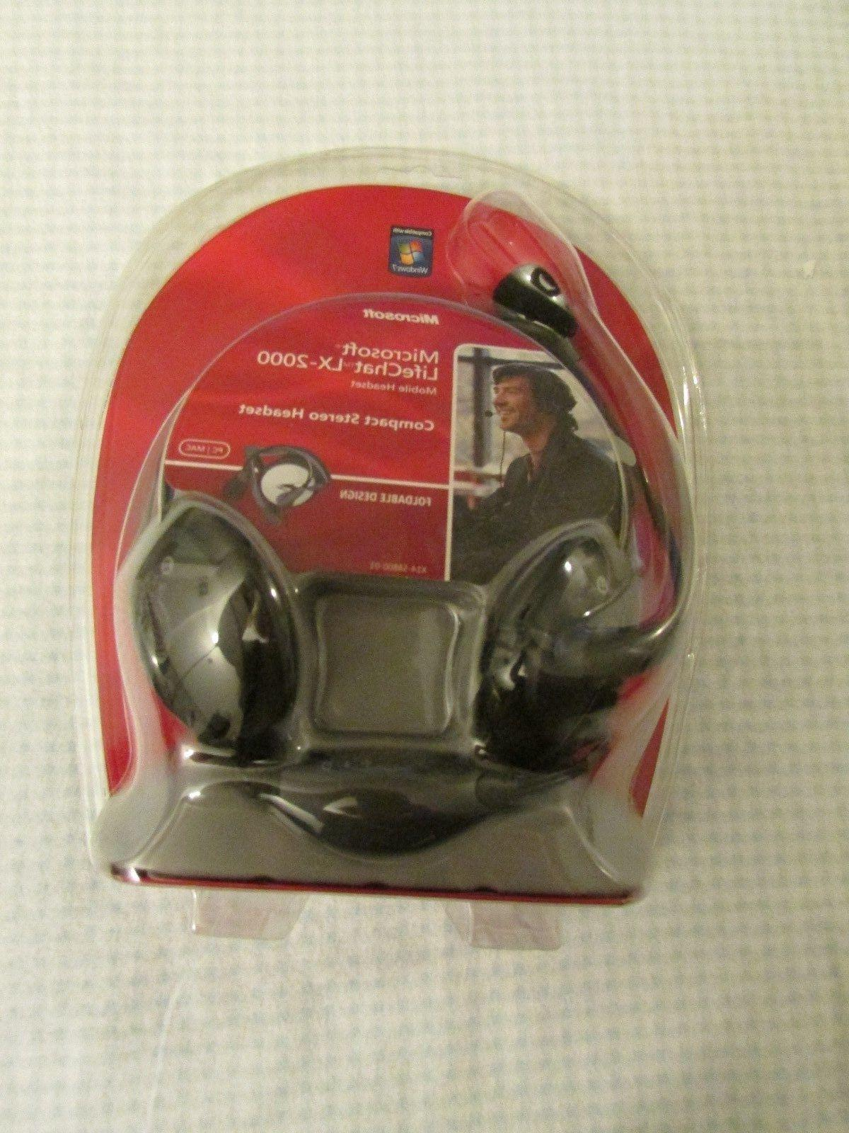 lifechat lx 2000 compact stereo headset foldable