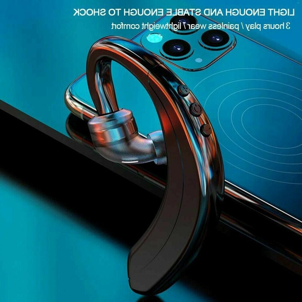 Wireless Bluetooth Earhook Headset For Samsung Android