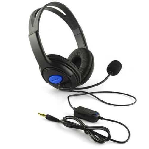 NEW Wired Headphones Over Ear Headset Earphone With Mic Volume US