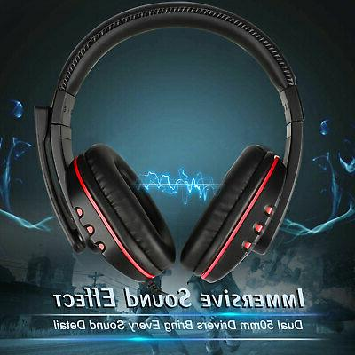 Pro Gamer Mic Headset Stereo For One/PC/Laptop