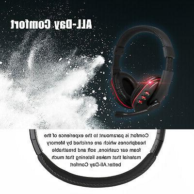 Gaming Surround Headphone 3.5mm Wired Mic For PS4