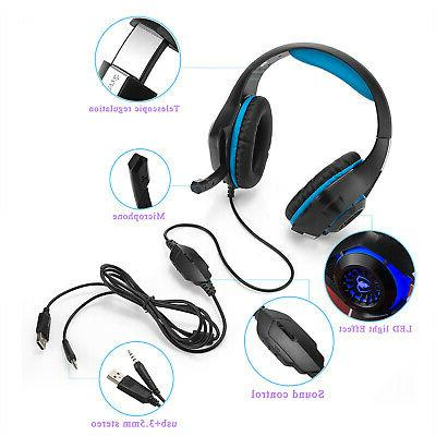 For PS4 Switch Headphones Mic Headset