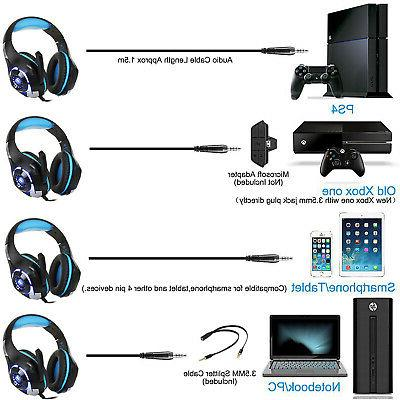 For PS4 Xbox Switch PC Stereo Headset
