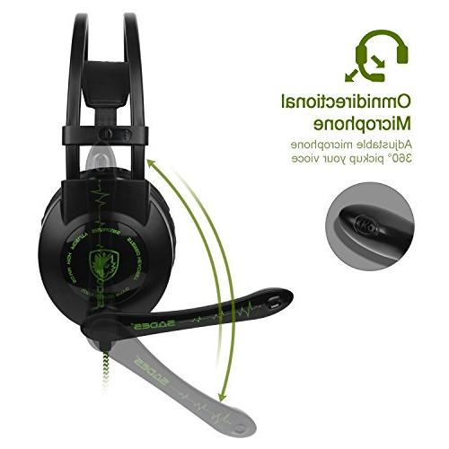 PC PS4 ONE Gaming Headset,SADES The with