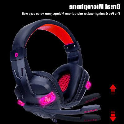 For PS4 Xbox Nintendo Switch PC Wired Gaming Headset Headphones