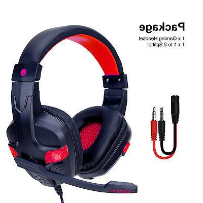 For One Wired Gaming Headset Stereo Headphones