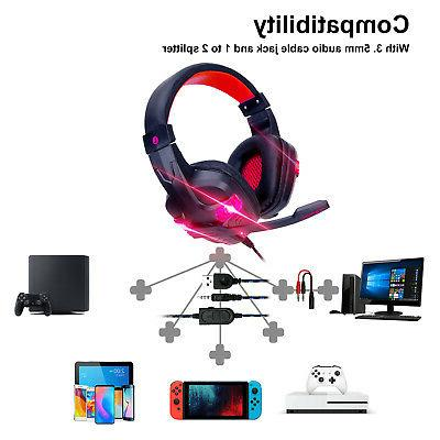 For Nintendo Switch PC Wired Headphones