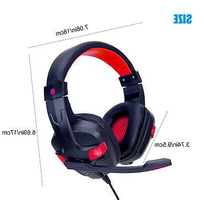 For Xbox Nintendo PC Wired Gaming Headset Headphones