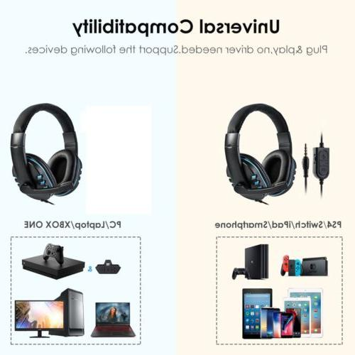 For PC Wired Gaming Headset Mic Surround