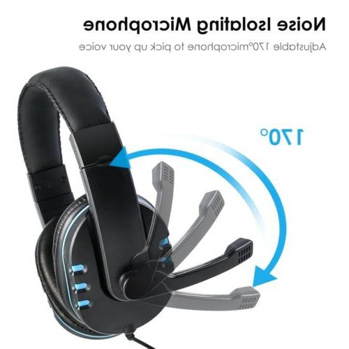 For Xbox One Gaming Headset Mic Surround