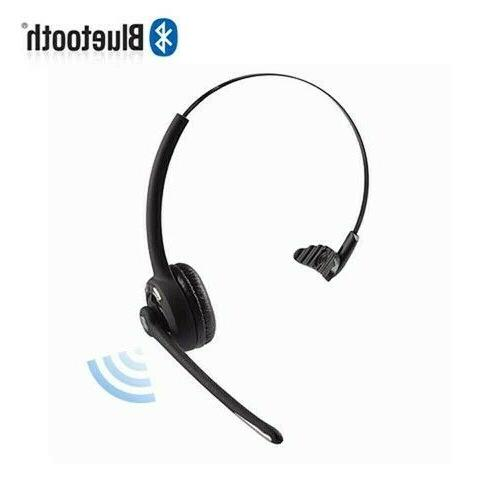 Rechargeable Bluetooth Headset With Microphone Laptop Computer Pc