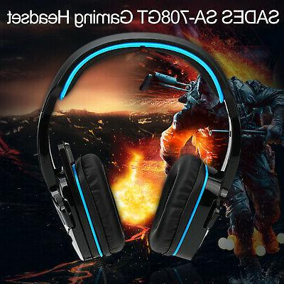 SADES SA-708GT Gaming Headset With Microphone for PS4 PC Lap