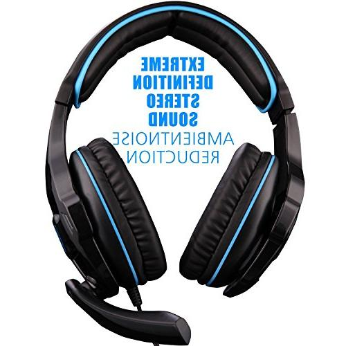 SADES SA810 Headphone Over-Ear with Mic Volume for PC/XboxOne/PS4