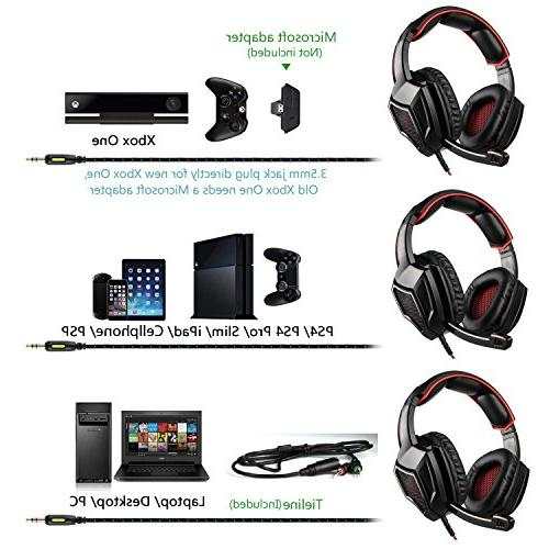 Stereo Ear with for / /Cell phones- Black/red