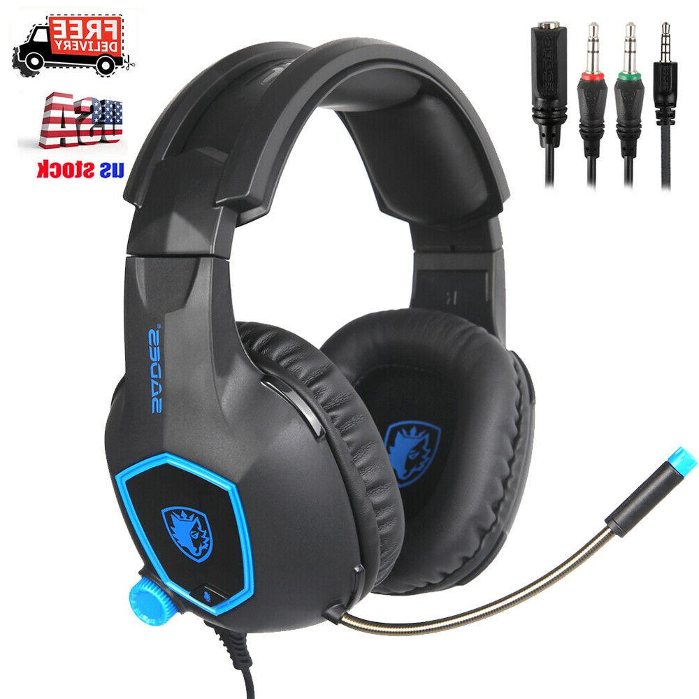 SADES SA818 Gaming Headset for PS4 Xbox One PC Stereo Sound