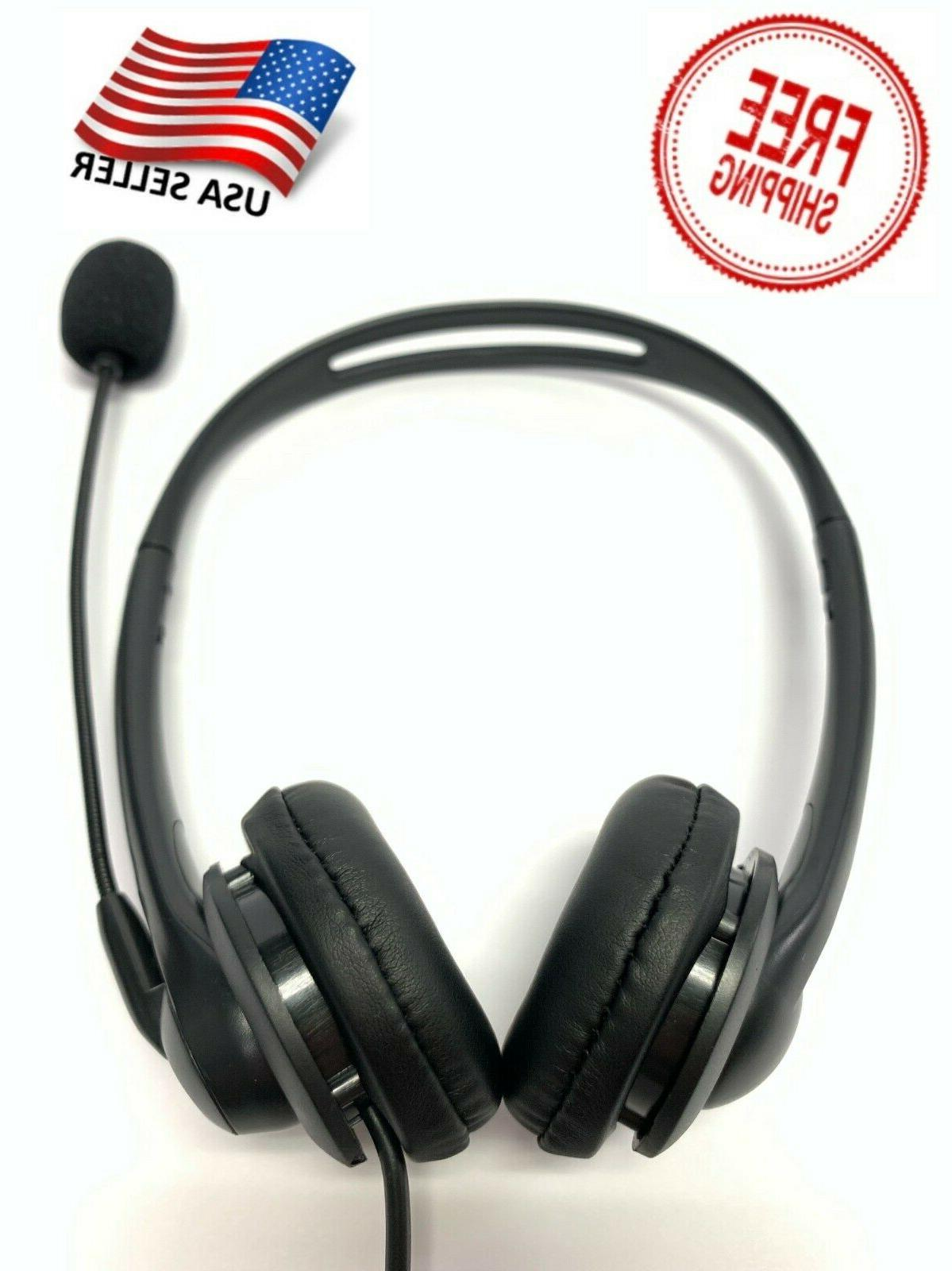 usb noise cancelling microphone headset for laptop