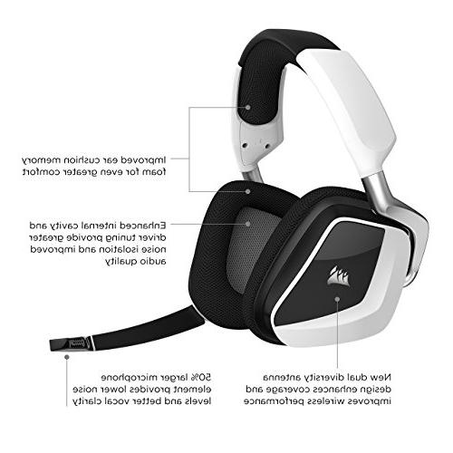 CORSAIR RGB Wireless Gaming Dolby Headphones PC Discord - Drivers - White