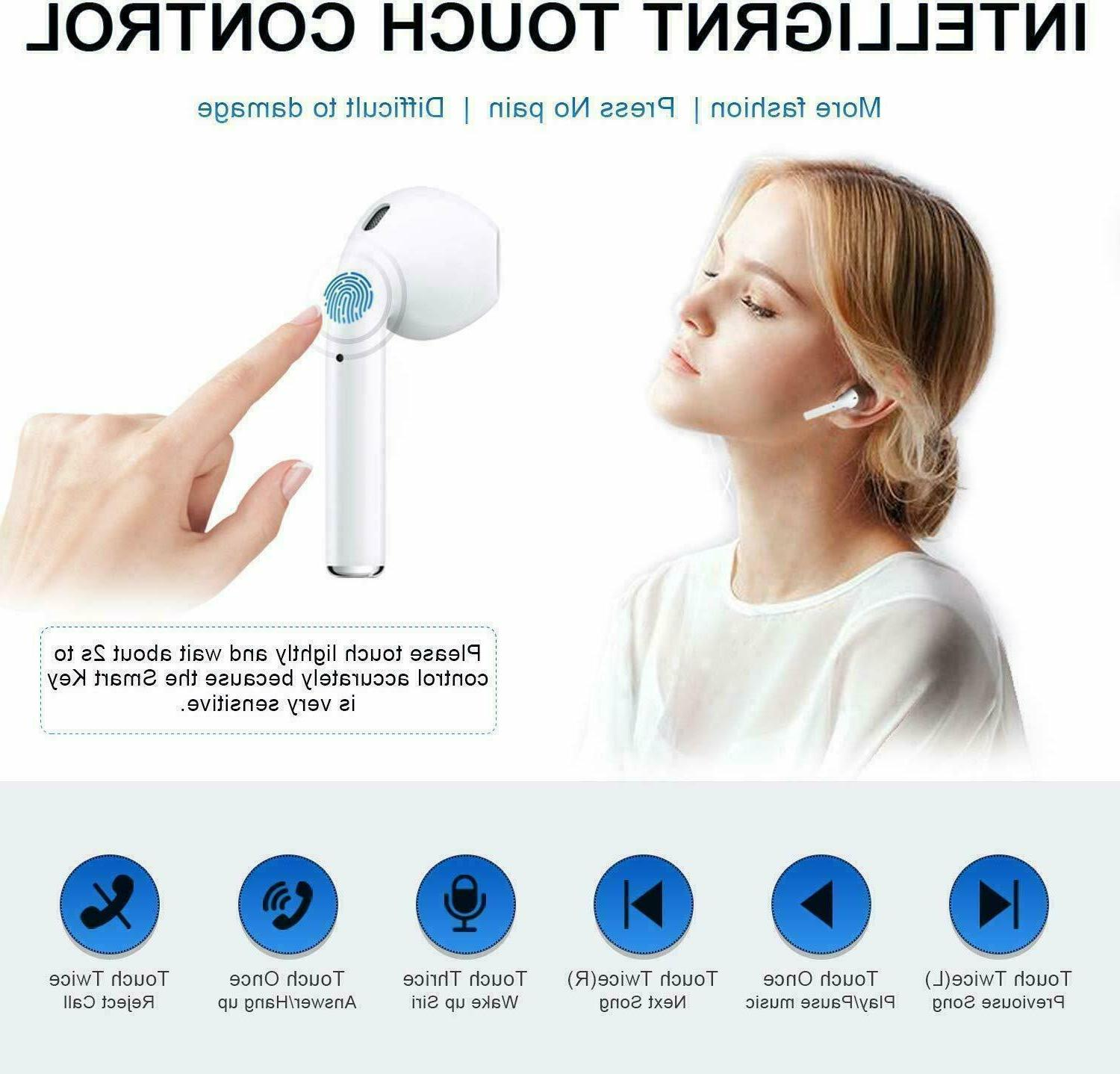 Wireless Bluetooth Compatible With Apple iPhone AirPods iPad