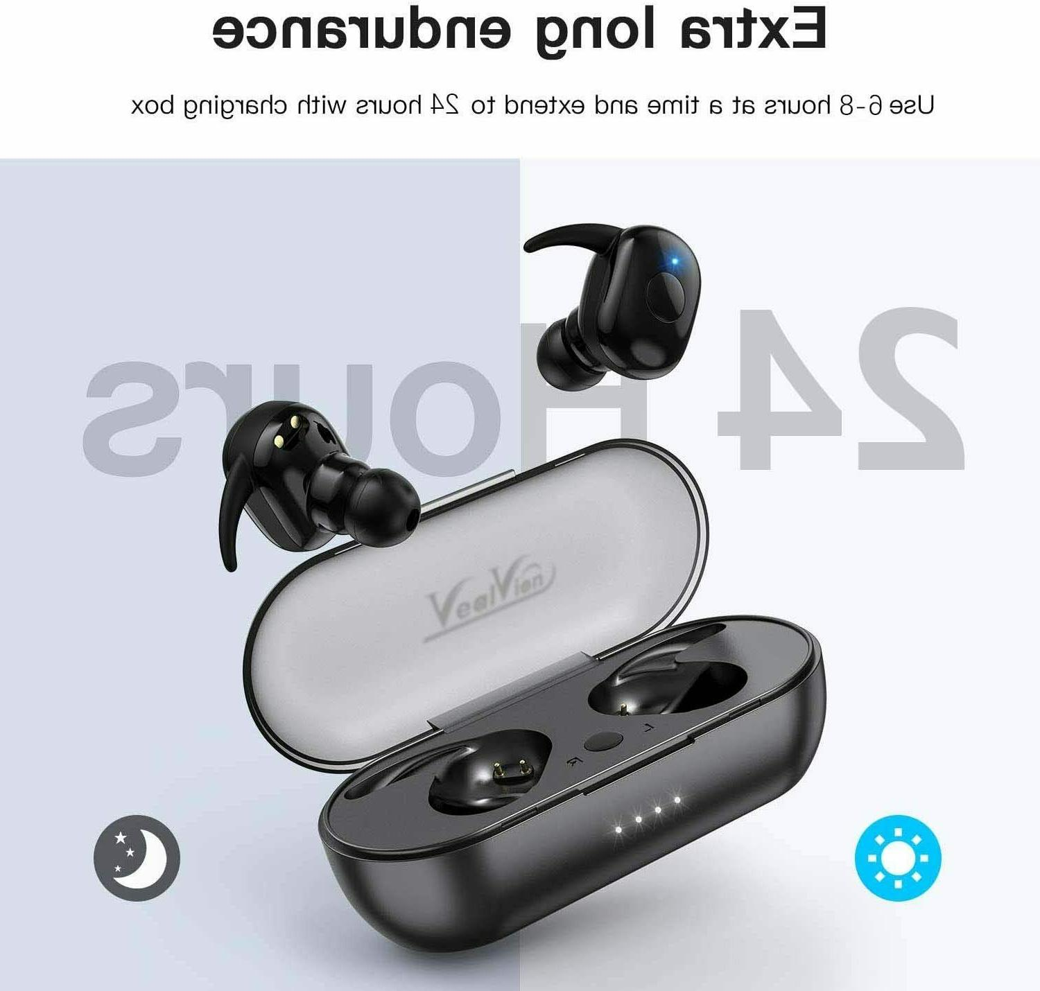 Wireless Headset With Charging Box