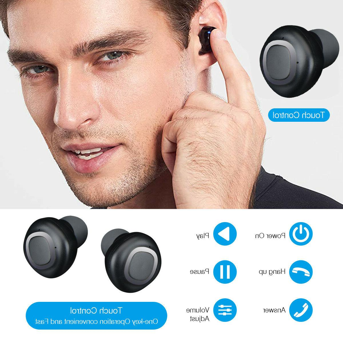 Wireless Earbud Bluetooth Headset With Mic Plus Charging