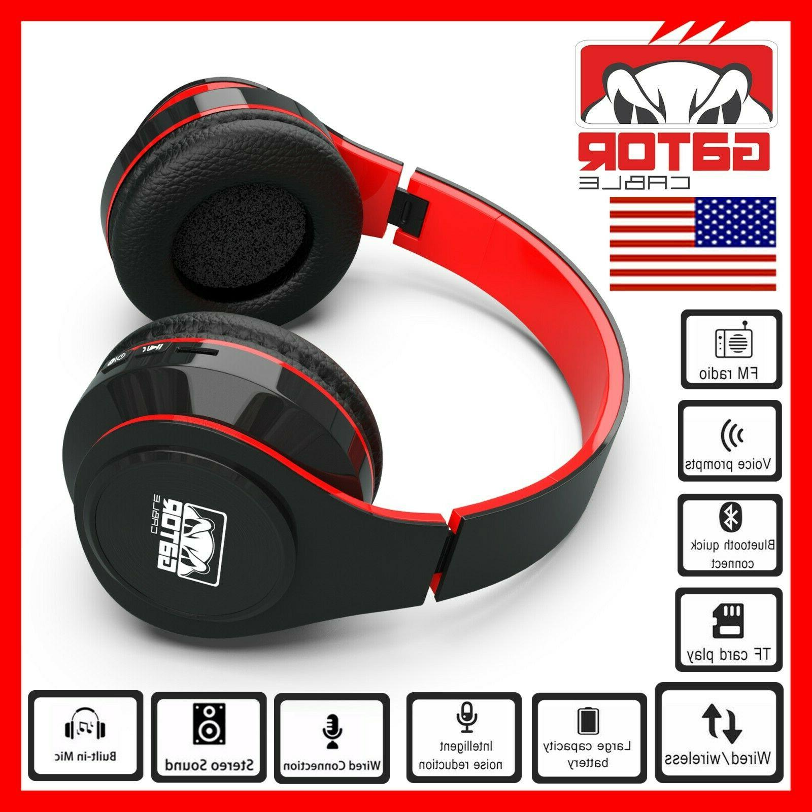 Wireless Stereo Headphones Foldable Ear Headset
