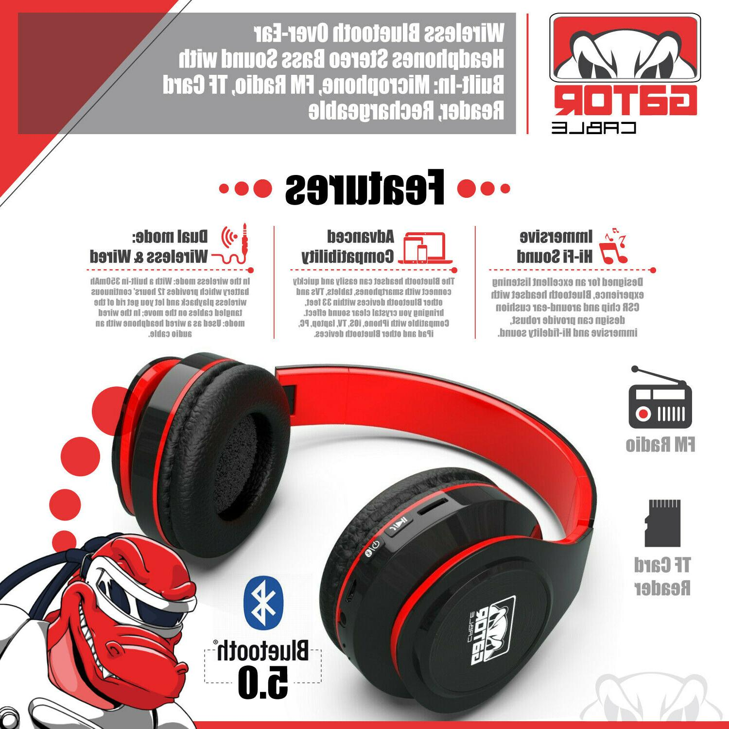 Wireless Hi-Fi Headphones Headset PC Phone