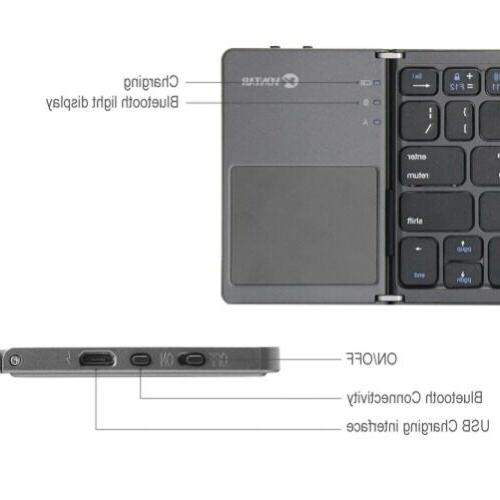 Wireless Keyboard Rechargeable Portable Keypad for &