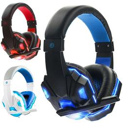 LED 3.5mm Surround Stereo Gaming Headset Headphone with Mic