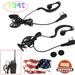 2PCS Headset For Baofeng Radio Earpiece 2Pin Walkie Talkie H